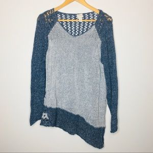 Chico's Knit Asymmetrical Sweater